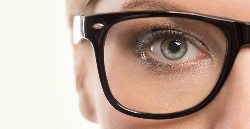 a women wearing glasses